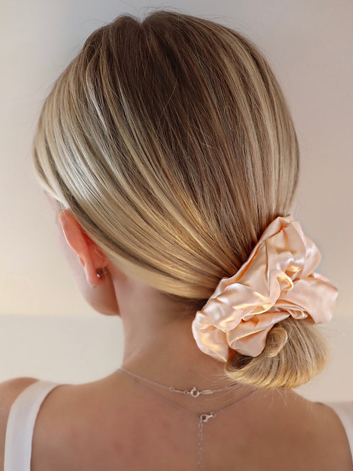 """""""Luxe"""" 100% Mulberry Silk Scrunchies"""