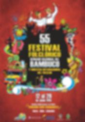 Festival Bambuco, San Pedro, Huila, Neiva, Festival Folclorico, Reinado Nacional Bambuco, Muestra Internacional Folclor, Señorita Neiva, Popular, Departamental, Coronacion, Desfile, Calle Festival, Programacion oficial, Afiche oficial, 55, LV