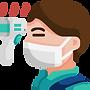 5929223 - avatar fever man measure sick.