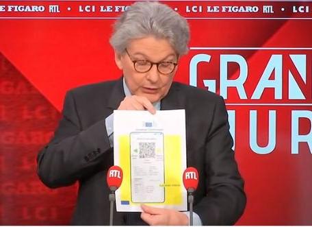 Thierry Breton a dévoilé le futur passeport sanitaire européen ce dimanche 28 mars