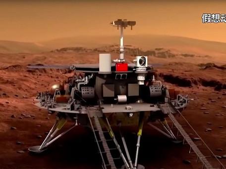 Mars: la chine a réussi à poser son robot zhurong sur la planète