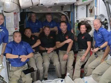 Thomas Pesquet et ses trois coéquipiers sont dorénavant à bord de la Station spatiale internationale
