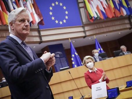 Le Parlement européen approuve l'accord sur le Brexit