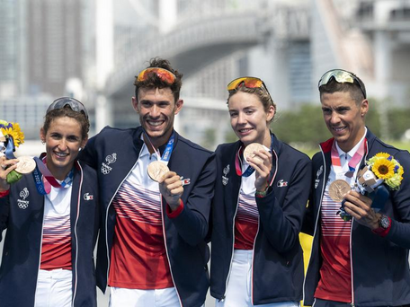 JO de Tokyo : qui sont L.PERIAULT, D.CONINX, C.BEAUGRAND et V.LUIS, bronzés en triathlon ?