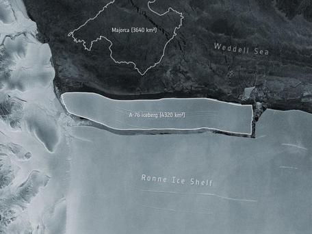 Antarctique ; le plus gros iceberg du monde se détache