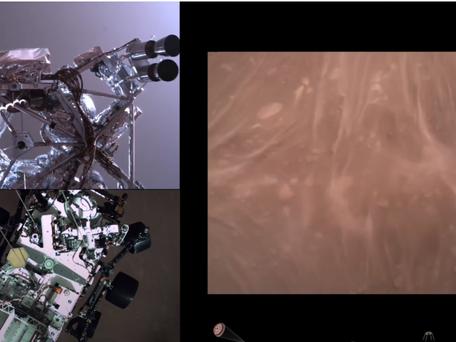 La Nasa diffuse de nouvelles images de l'atterrissage de Perseverance sur Mars