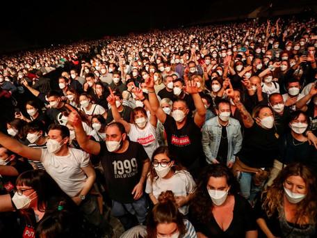 """Concert test: feu vert à Paris pour """"Ambition Live Again"""" 5000 personnes debout à Bercy"""