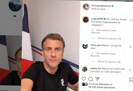Macron en mode selfie : «Allez-y, posez-moi vos questions»