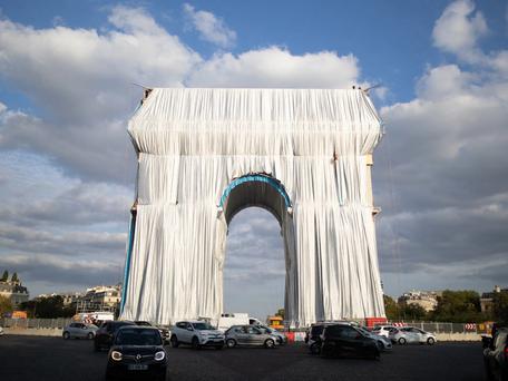 Arc de Triomphe : l'œuvre empaquetée