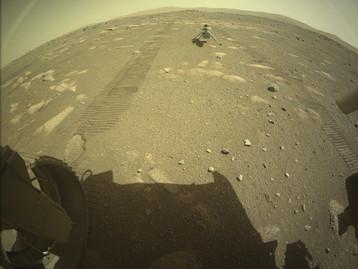Perseverance sur la planète Mars : L'hélicoptère Ingenuity est sur le sol martien prêt à décoller !