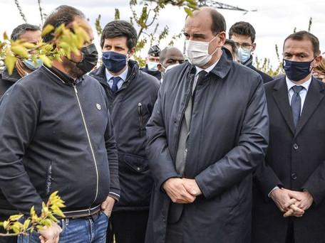"""Jean Castex annonce """"un milliard d'euros d'aides"""" pour les agriculteurs sinistrés suite au gel"""