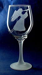 gift for angel lover on a hand made etched glass