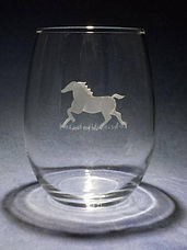 gift for horse lovers hand etched glass