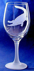 lover of aligator etched on glass