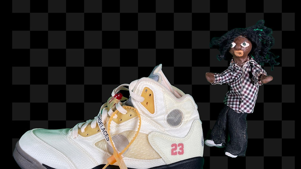 "Off-White x Air Jordan 5 ""Sail""   Size 12"