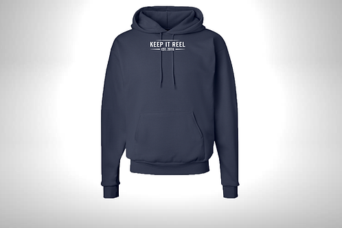 """Navy Hoodie """"EST"""" Embroidered"""