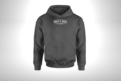 """Charcoal Hoodie """"EST"""" Embroidered"""