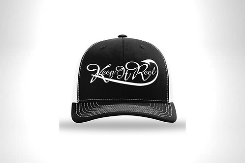 "Black/White ""Hooked"" Hat SnapBack"