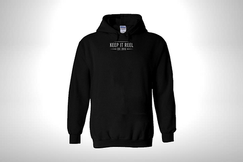 "Black Hoodie ""EST"" Embroidered"