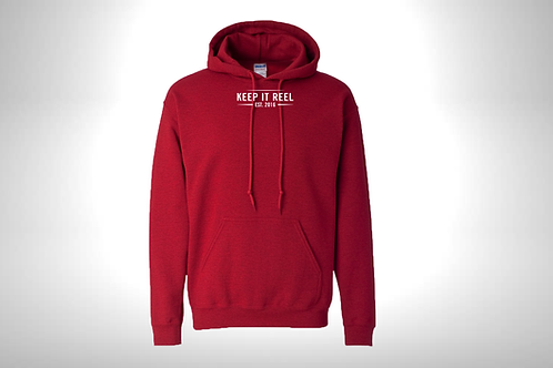 """Red Hoodie """"EST"""" Embroidered"""