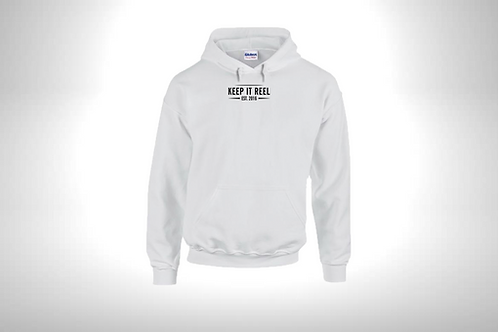 """White Hoodie """"EST"""" Embroidered"""