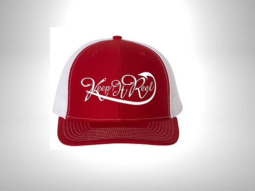 """Red/White """"Hooked"""" Hat SnapBack"""