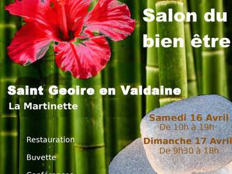 Salon du bien-être à St Geoire en Valdaine - 16 & 17 avril 2016