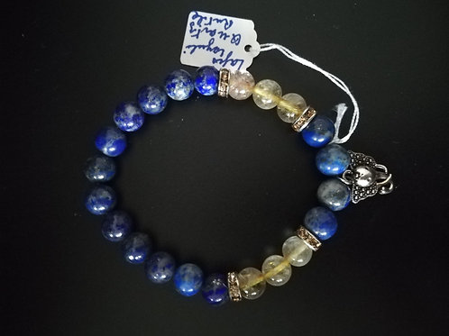 Bracelet Lapis et quartz rutile