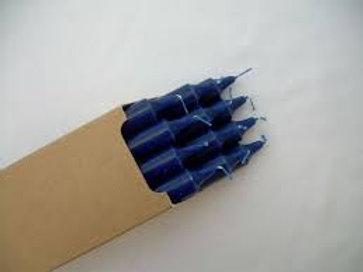 Boite de 12 Bougie teintée dans la masse Bleu Nuit