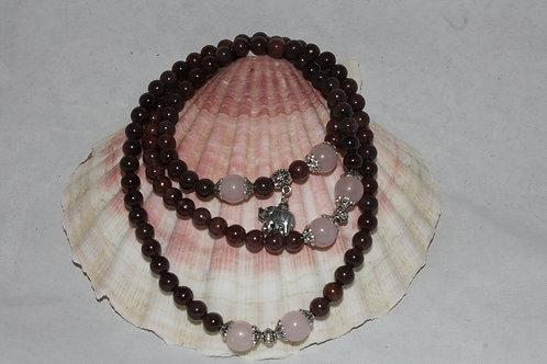 Grenat Rouge en Bracelet et collier