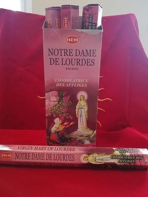 bâton d encens notre Dame de Lourdes