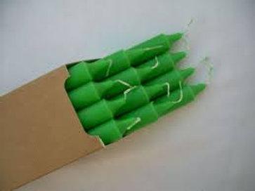 Boite de 12 Bougie teintée dans la masse Vert Pré
