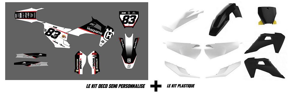 """KIT DÉCO + KIT PLASTIQUE  - SEMI PERSO """"RACE"""""""