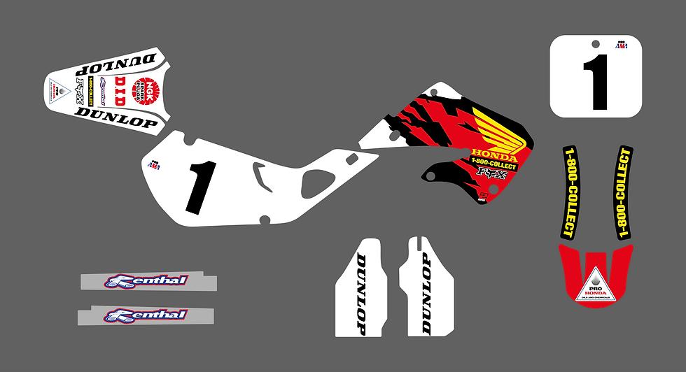 KIT DÉCO - Team US Honda McGrath 1997