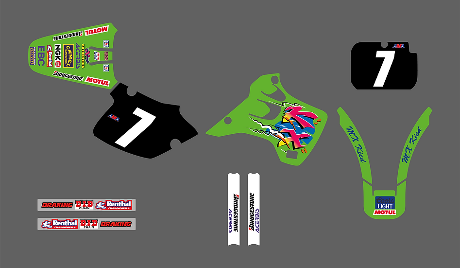 KIT DÉCO - Team US Replica Kawasaki 1992