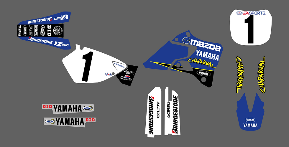 KIT DÉCO - Team Yamaha Chaparral 1999