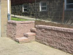 Keystone Wall with New Lawn