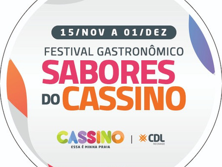 Festival Sabores do Cassino inicia no dia 15 de novembro