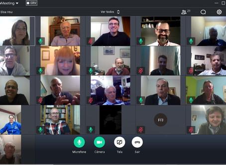 Câmara de Comércio realiza primeira reunião virtual de Diretoria