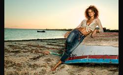 Sandra on the beach