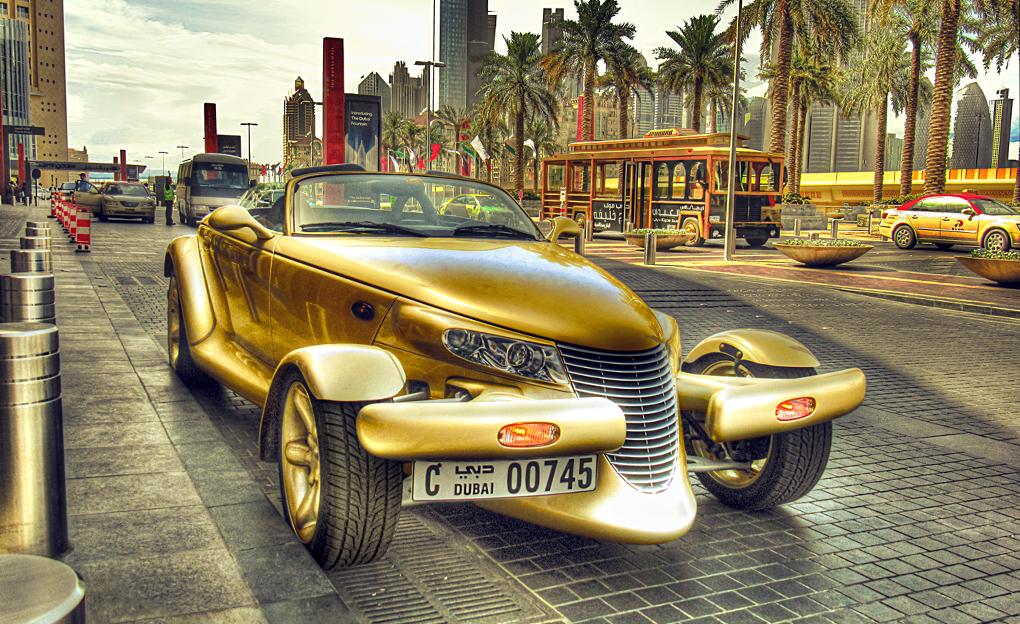 a random car in Dubai