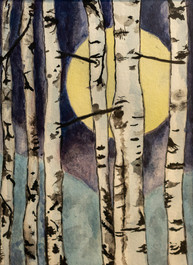 Sally Minsberg: Birches by Moonlight