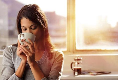 Prazer em beber café