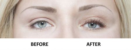 Lash Perm Before & After