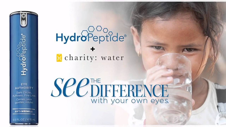 HydroPeptide Charity Water Project