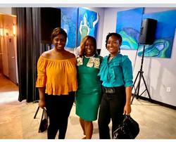 Celebrating with NAACP DeKalb President Teresa Hardy