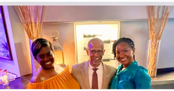 Celebrating with Tax Commissioner Irving Johnson