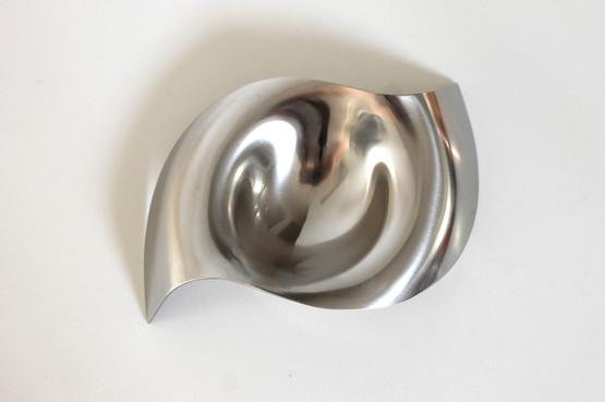 georg jensen royal copenhagen please pass me salt cellar bowl stainless steel allan scharff wave danish design contemporary