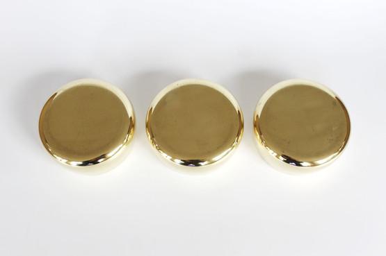 danish georg jensen living design henning koppel mid-century modern brass silverplated snack bowls sugar