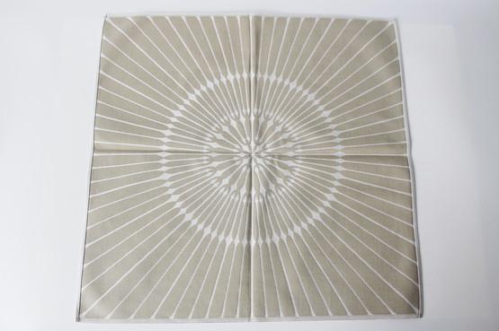 Georg Jensen Damask Cloth Napkins Sand Colour Sunburst Pattern mid-century modern
